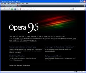 Opera 9.5 First Run
