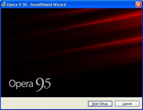 Opera 9.5 Setup